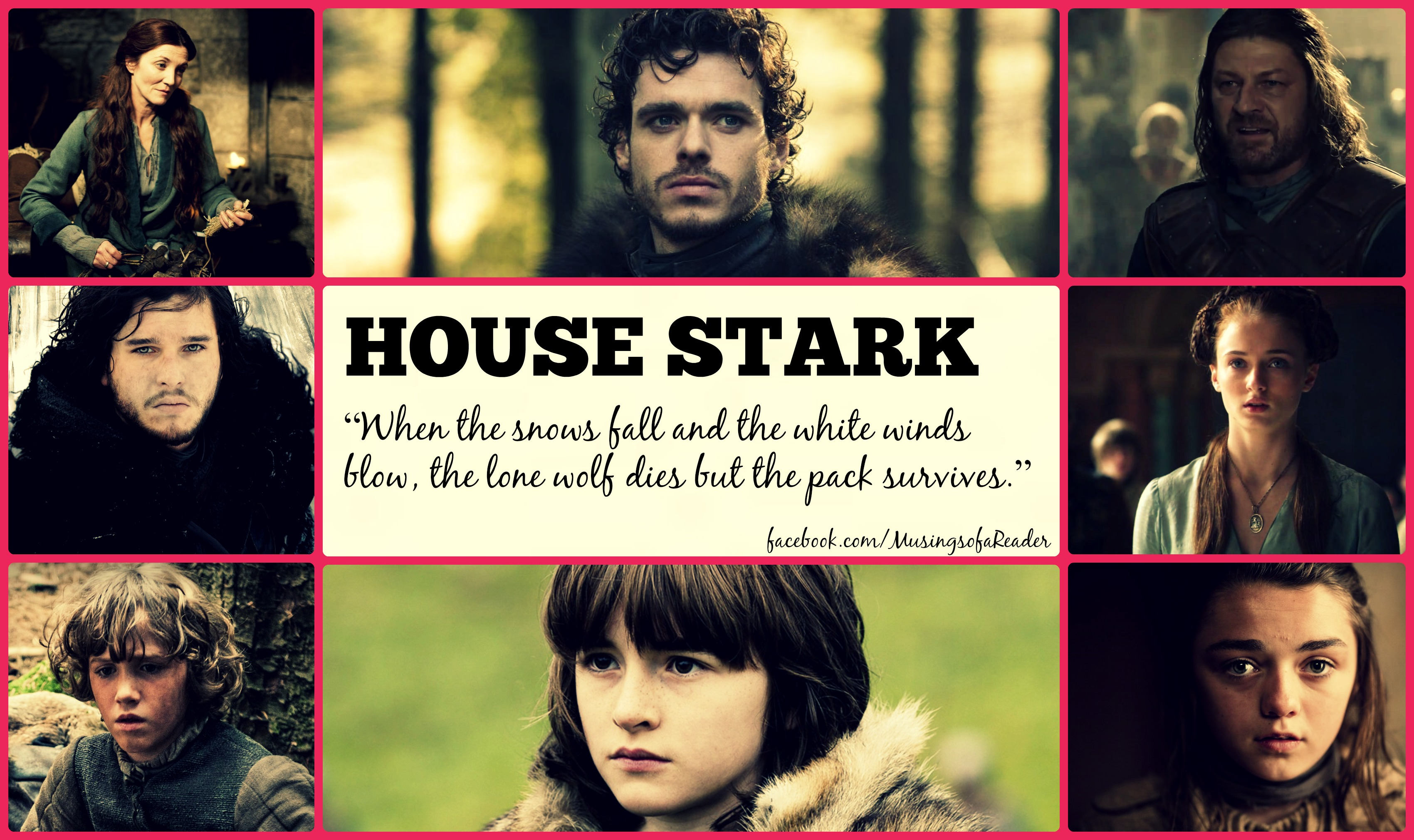 Game of thrones starts with a frightening prologue and then shifts to the castle of winterfell which is where the starks rule the north for king robert